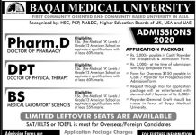 BAQAI MEDICAL UNIVERSITY ADMISSION 2020