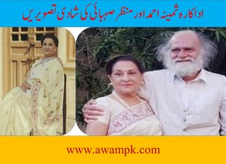 Actress Samina Ahmed with Manzar Sehbai 2nd Marriage Pictures