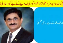 CM Sindh Corona Relief Program 2020