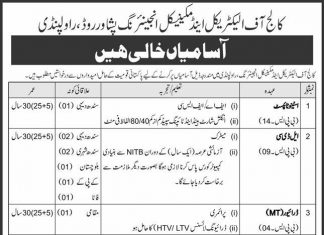 College of Electric and Mechanical Engineering Peshawar Road Rawalpindi Jobs 2020