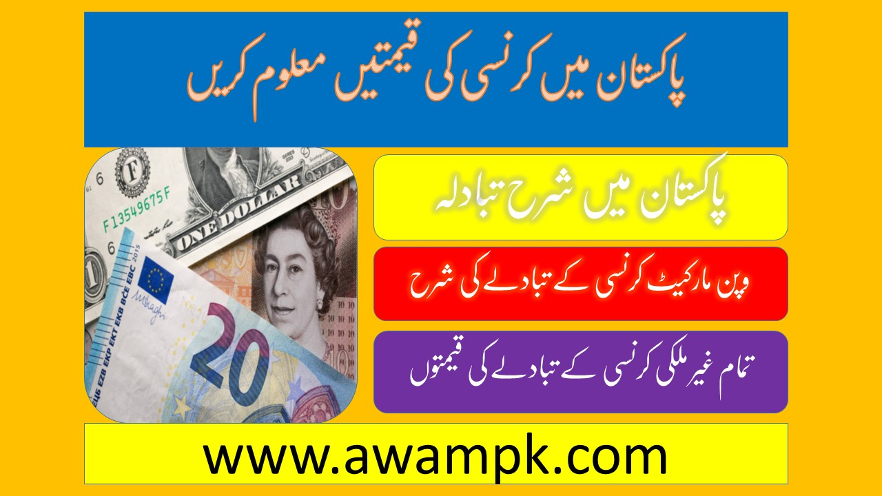 Pakistan currency exchange rate today