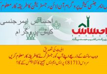 Ehsaas Emergency Cash Program registration