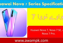 Huawei Nova 7 Series Specification