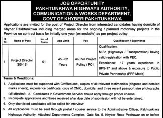Pakhtunkhwa Highway Authority (PKHA) Project Director Jobs 2020