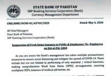 SBP will not issue fresh currency notes on the occasion of Eid-ul-Fitr. Notification