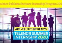 Telenor Pakistan Summer Internship Program 2020