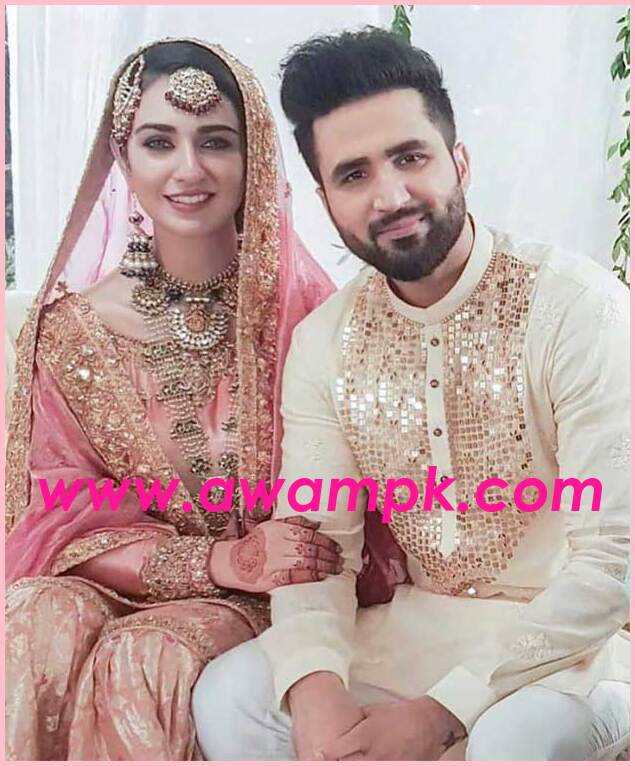 Actress Sarah Khan and singer Falak Shabir Marriage Pictures