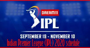 Indian Premier League (IPL) 2020 schedule