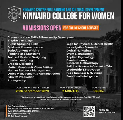 Kinnaid College For Women Admission 2020