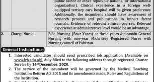 Lady Reading Hospital Medical Institute Peshawar Jobs 28th November 2020