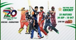National T20 Cup Schedule September 2020
