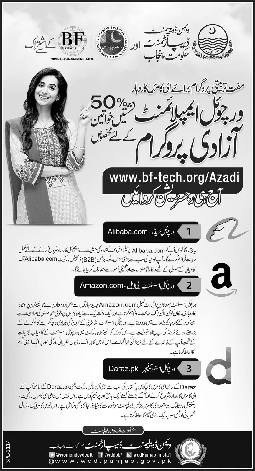 Virtual Employment Azadi Program Online Apply