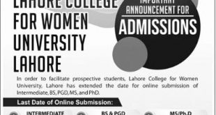 Women University Lahore Admission 2020