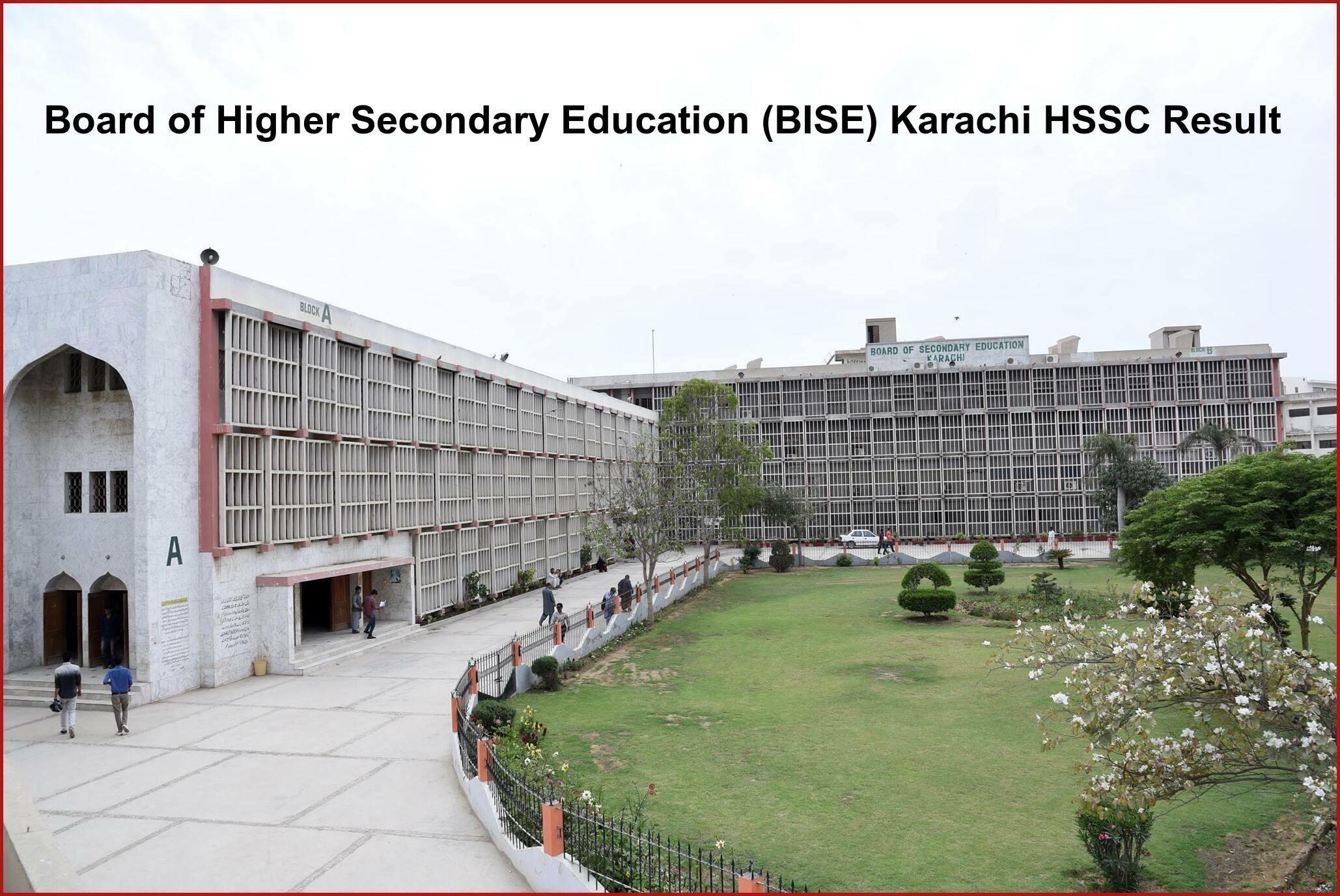 Board of Higher Secondary Education (BISE) Karachi HSSC Result
