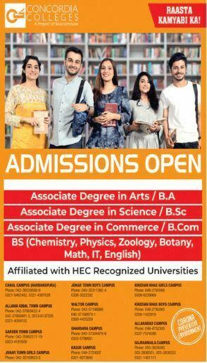 Concordia colleges Admission online Registration