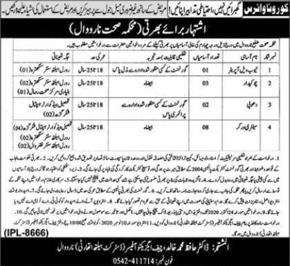 District Health Authority (DHA)Narowal Jobs 8th October 2020