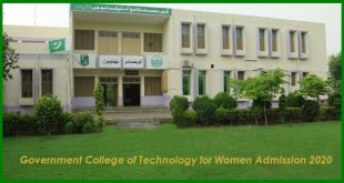 Government College of Technology for Women Admission
