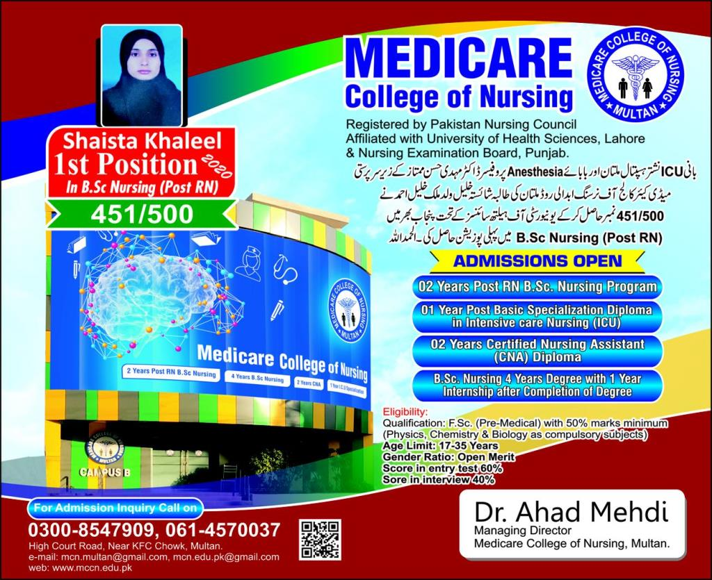 Medicare College of Nursing Admission 2020