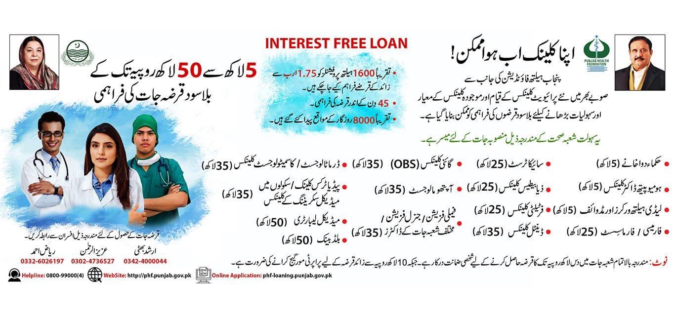 PHF Interest-Free Loan in Pakistan Online Registration