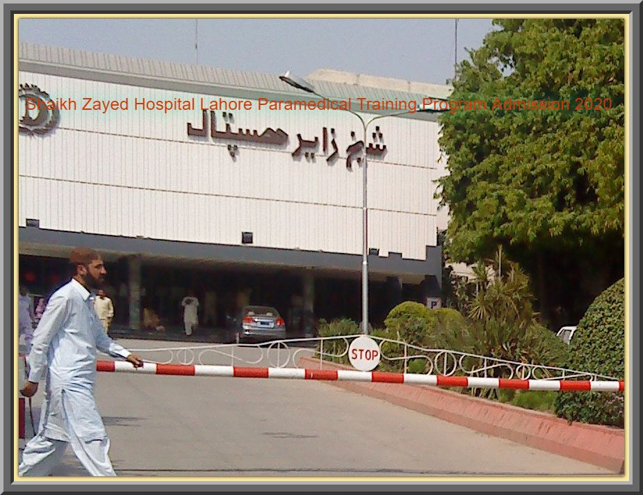 Shaikh Zayed Hospital Lahore Paramedical Training Program Admission 2020