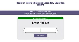 BISE Lahore HSSC Part II Annual Result 2021