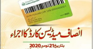 CM Punjab Insaf Medicine Cards Online Registration