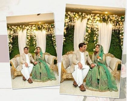 Pakistan's Popular Host and actress Nadia Khan Marriage Pictures