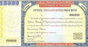 Prize bond Rs.15000 banned in Pakistan from 1st May 2021