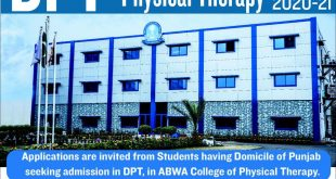 ABWA College of Physical Therapy Admission 2020-21