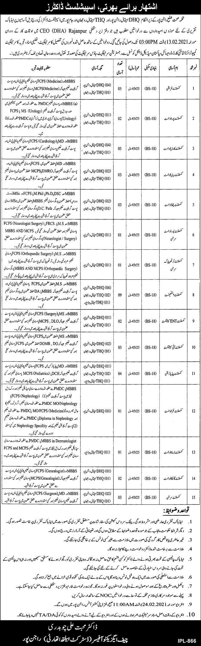 District Health Authority Rajan Pur Jobs