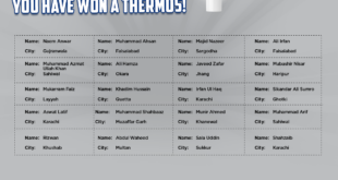 LU Biscuits Crore Pati Lucky Draw Thermos Winner list 2021