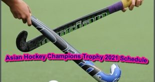 Asian Hockey Champions Trophy 2021 Schedule