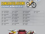 LU Biscuits Crore Pati Lucky Draw Bicycle Winner list 2021