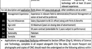 Ministry of Science and Technology Jobs 21st April 2021