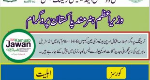 PM Hunarmand Pakistan Free Technical Courses