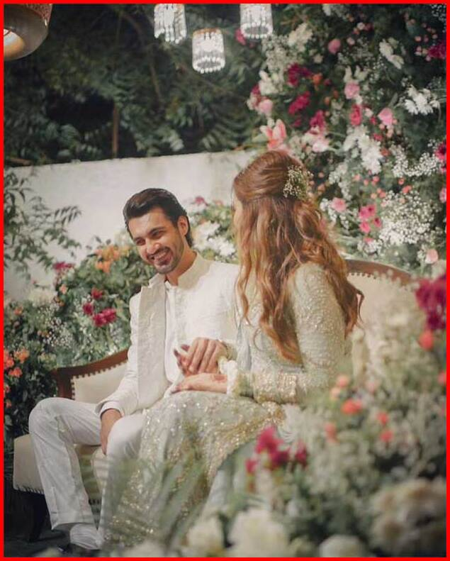 Actress Minal Khan and Ahsan Mohsin Ikram Engagement Pictures