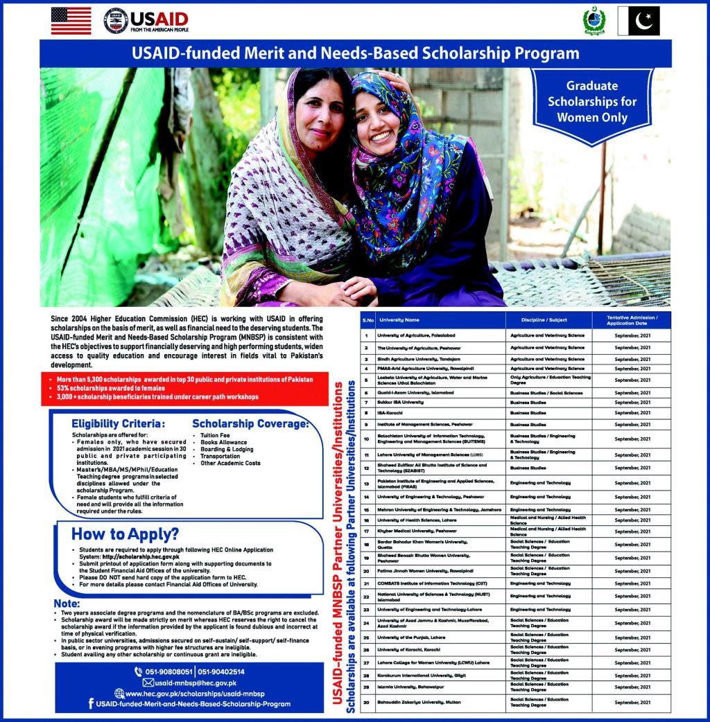 USAID-funded Merit and Needs-Based Scholarship Program