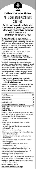 PPL Scholarship Schemes 2021-2022 for Higher Professional Education